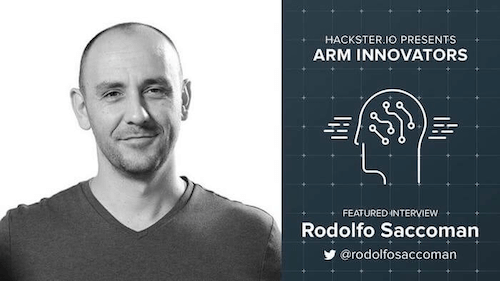 Hackster TV: Rodolfo Saccoman on AI and IoT // Arm Innovator Series